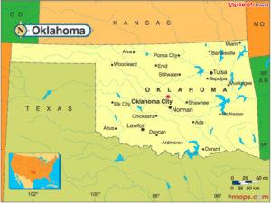 Indianerstamme Nordamerikas Karte.Oklahoma Vielvolkerstaat Indianischer Nationen