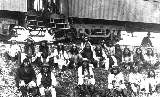 auf dem Weg mit der Eisenbahn nach Florida in die Kriegsgefangenschaft
