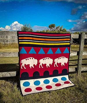 Boychieftrading-Buffalo-blanket-arbeitskreis-indianer