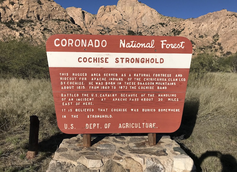 Cochise-Stronghold in den Dragoon Mountains, Arizona, ehemaliges Kernland der Chiricahua-Apachen