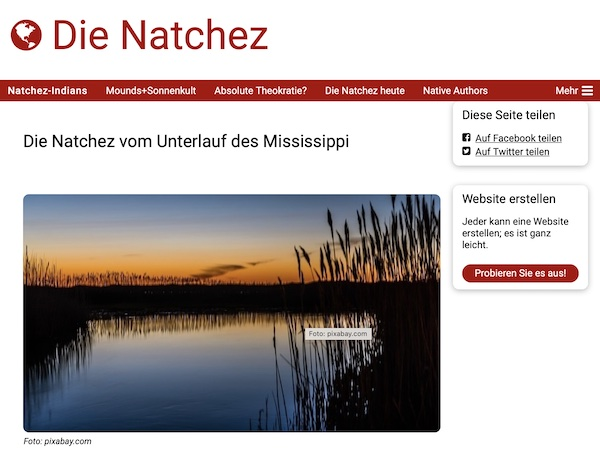 """Webseite """"Die Natchez"""" von Karl-Hermann Hörner"""
