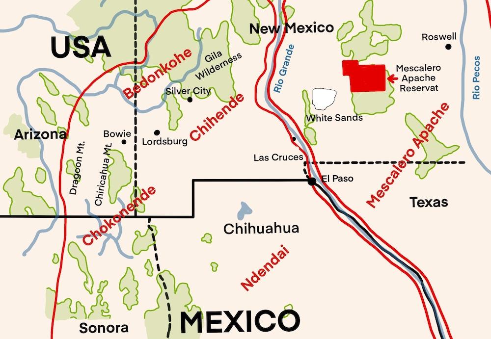ehemaliger Lebensraum der Chiricahua-Apachen